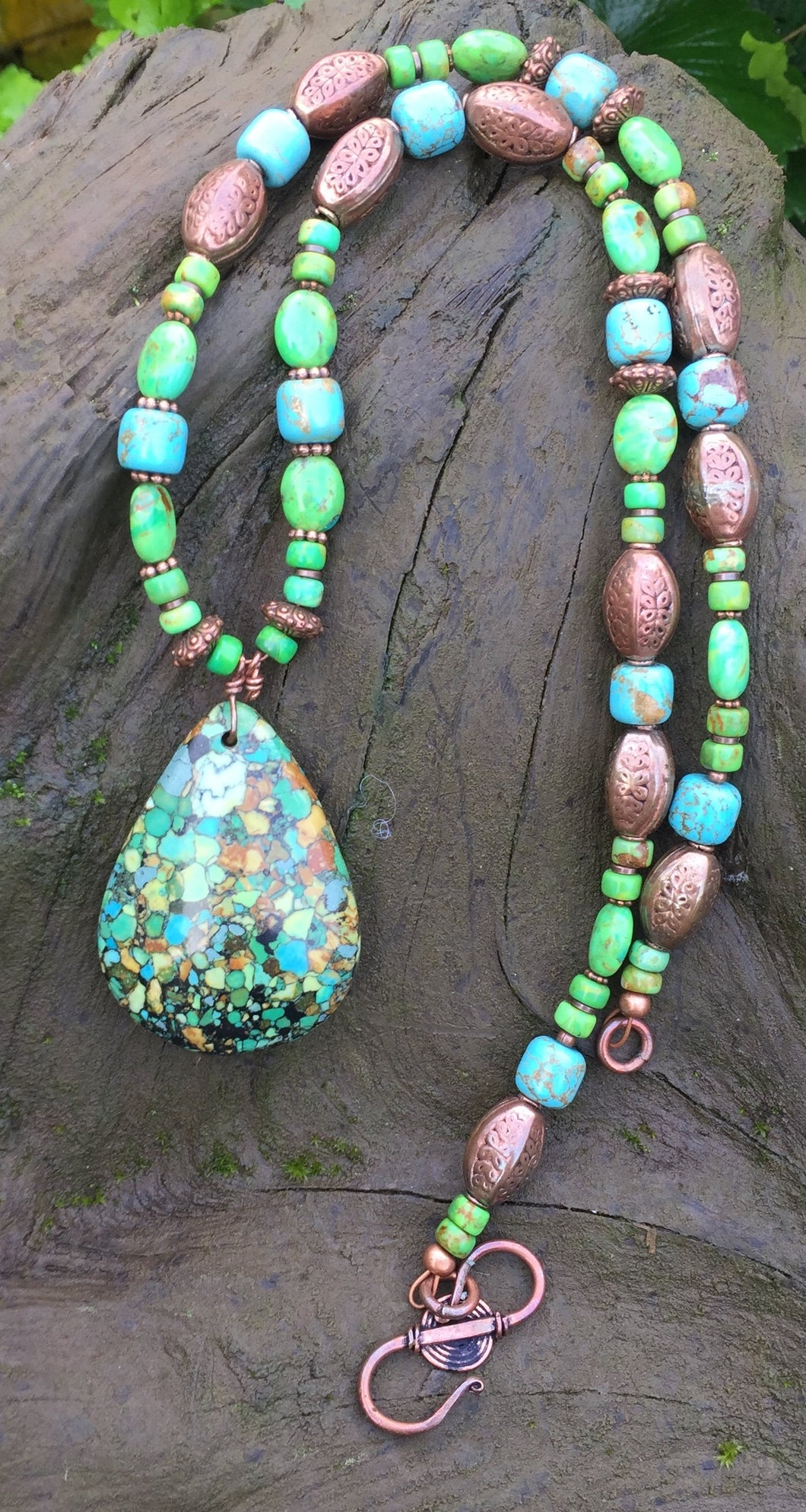 Mineral Necklace - Turquoise with Copper