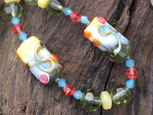 Load image into Gallery viewer, Lampwork Glass Necklace - Tutti Frutti