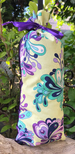 Light Green Purple Teal Bubbly Scrollwork