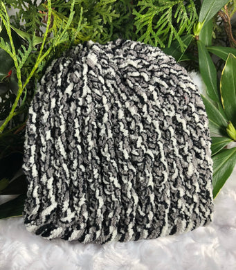 Baby Beanie - gray-white-black