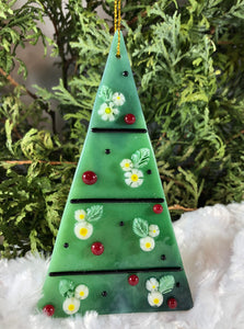 Holiday ornaments - Daisies on streaky