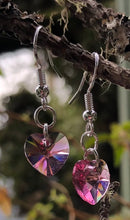 Load image into Gallery viewer, Swarovski Hearts - Petite Rose