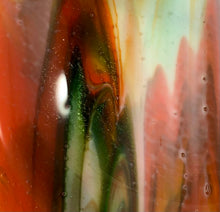Load image into Gallery viewer, Fused Glass - Orange Streaky Pasta Bowl