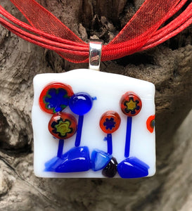 Victory Garden Fused Glass Pendant