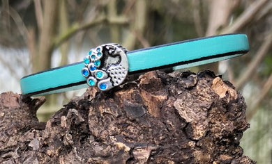 Leather Bracelet - Turquoise Peacock