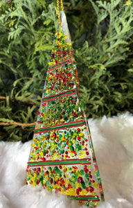 Holiday ornaments - Red -Green - Yellow