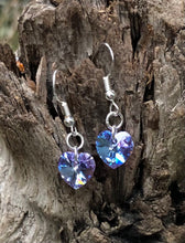 Load image into Gallery viewer, Swarovski Hearts - Petite Violet