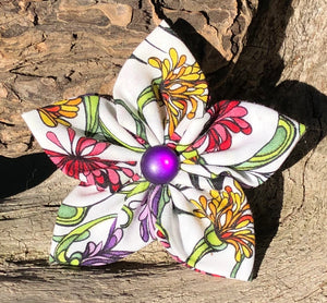Fabric Flower - floral print