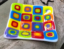 Load image into Gallery viewer, Square Cubes Fused Glass Dish