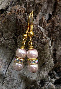 Little Gems - Pale Pink with Clear Crystals