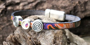 Leather Bracelet - Marbled Colors