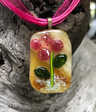 Spring Buds Fused Glass Pendant