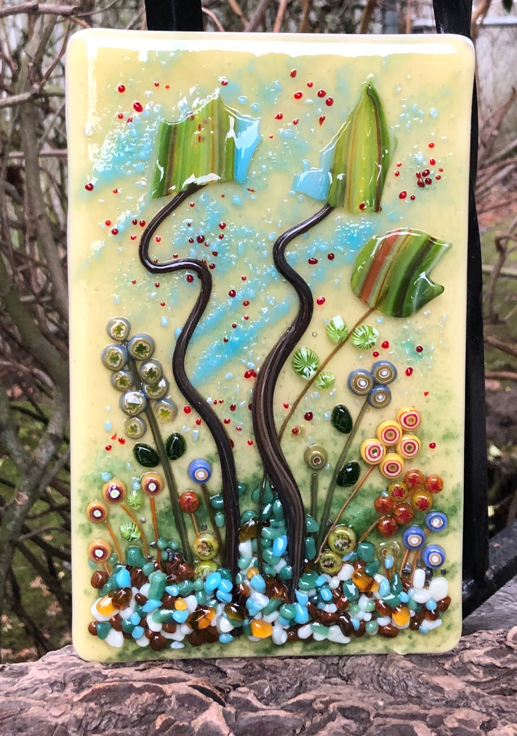 Going, Summer into Fall - Fused Glass