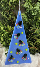 Load image into Gallery viewer, Holiday ornaments - Periwinkle with Flowers
