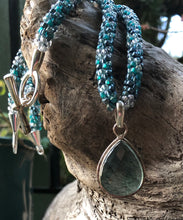 Load image into Gallery viewer, Kumihimo Necklace and Bracelet Set - Calm Waters