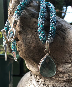 Kumihimo Necklace and Bracelet Set - Calm Waters