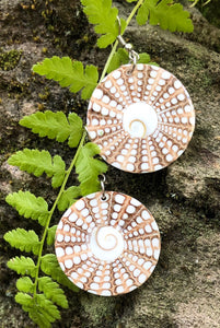 Shell Matrix Earrings