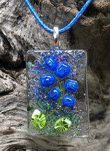 Load image into Gallery viewer, Stem of Bluebells Fused Glass Pendant