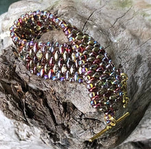 Load image into Gallery viewer, Snakeskin Bracelet - Magic Red and Crystal Amber