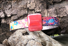 Load image into Gallery viewer, Leather Bracelet - Colors with Silver and Ceramic Slider