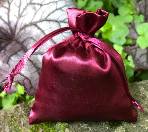 This Burgundy Satin Lavender Sachet is useful in diminishing stress, easily fits in a drawer, purse, gym bag, or locker and makes a unique gift. The contents of each sachet is Oregon lavender, and only lavender, thus there are no other fillers. Lavender has plenty of its own natural oils, so give it a gentle squeeze to slightly bruise the buds to draw out more fragrance. This sachet should not be heated or put into a microwave oven.