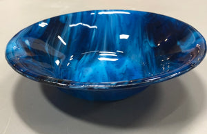 Fused Glass - Copper Blue Bowl