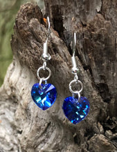 Load image into Gallery viewer, Swarovski Hearts - Petite Sapphire