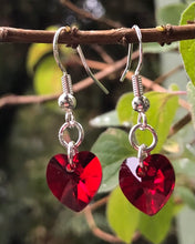 Load image into Gallery viewer, Swarovski Hearts - Petite Red