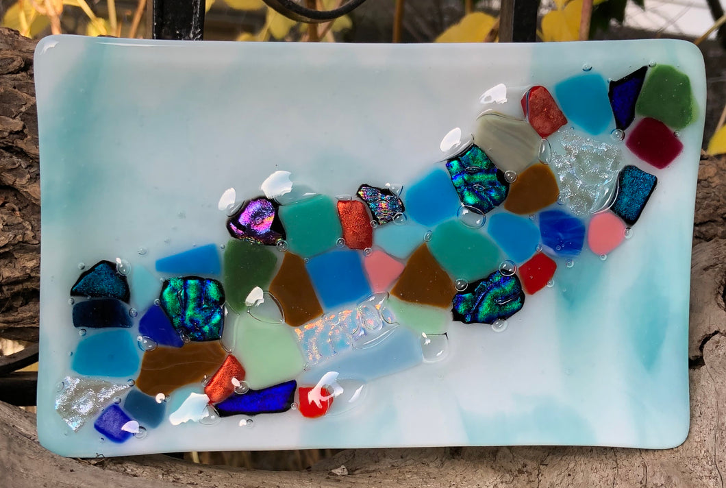 Riverbed Glass Tray