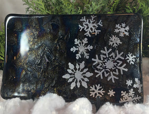 Fused Glass - Snowflake Journey in silver