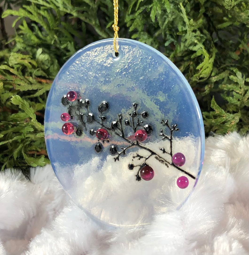 Holiday ornaments - Silkscreen branch