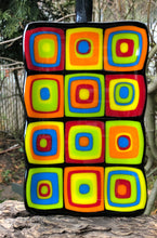 Load image into Gallery viewer, Retro Squares Fused Glass Dish