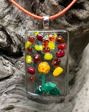Load image into Gallery viewer, Raining Petals Fused Glass Pendant