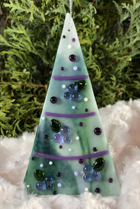 Holiday ornaments - Purple and Green