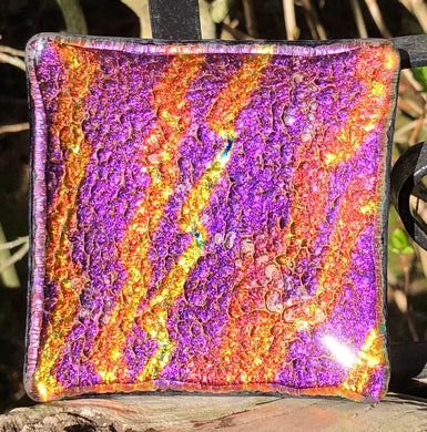 Electrical Storm Dichroic Fused Glass