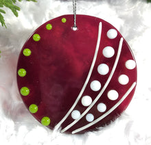 Load image into Gallery viewer, Holiday ornaments - Cranberry Sphere with Lime
