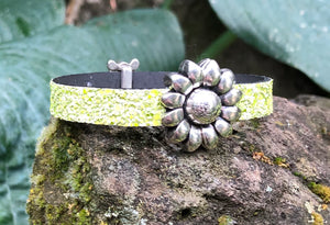 Leather Bracelet - Confetti with Sea Turtle