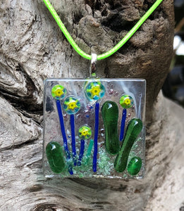 Margarita Blooms Fused Glass Pendant