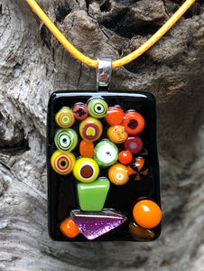 Still Life with Murrini Fused Glass Pendant