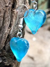 Load image into Gallery viewer, Light Blue Heart Earrings