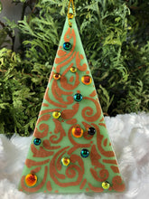 Load image into Gallery viewer, Holiday ornaments - Copper on Mint Green
