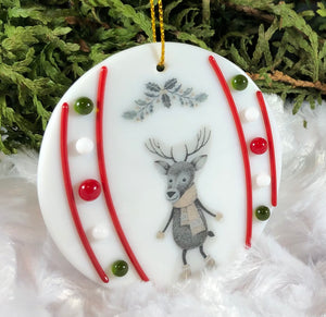 Holiday ornaments - Frozen Rudolph