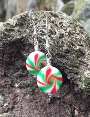 Peppermint Candy Earrings