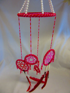 Red/Pink Dream Catcher - Andrea Fowler