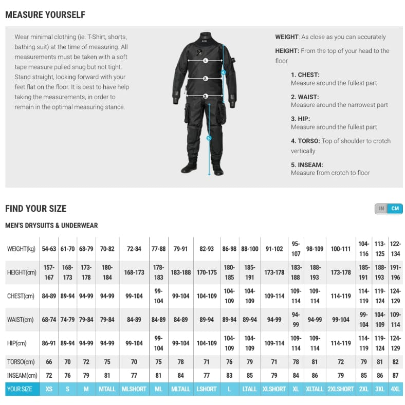 Bare Aqua Trek 1 Drysuit Male - Drysuits