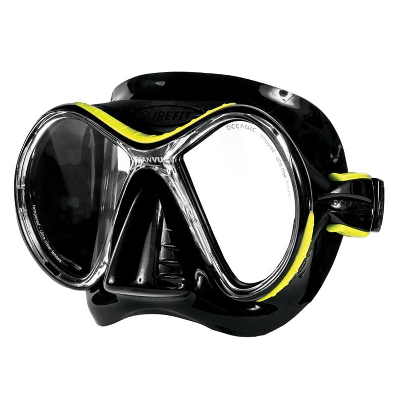 Oceanic Ocean Vu Mask - Black / Yellow - Masks