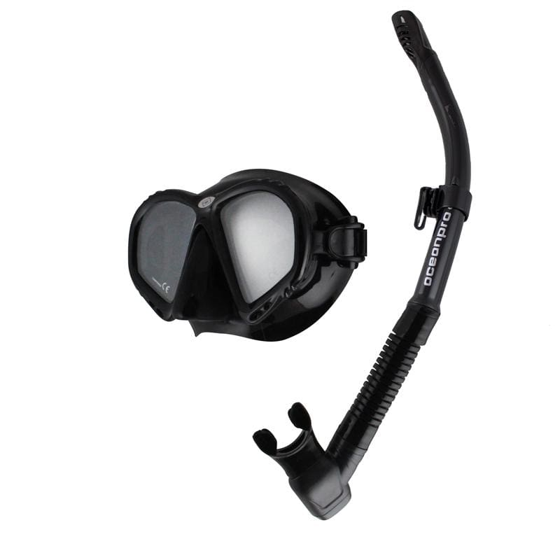 Oceanpro Atlantis Mask Snorkel Set - Black - Mask / Snorkel Sets