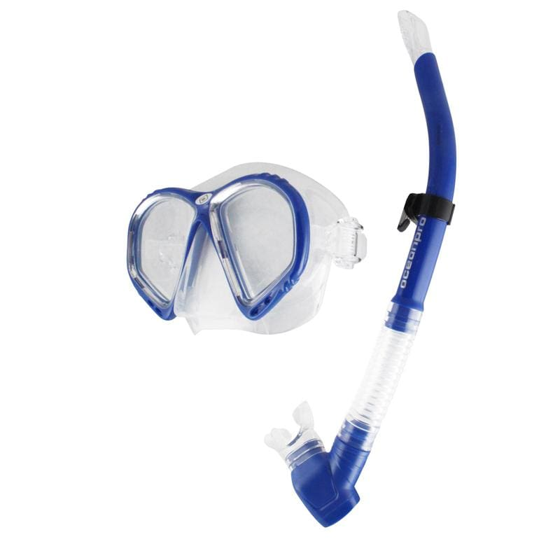 Oceanpro Atlantis Mask Snorkel Set - Blue - Mask / Snorkel Sets