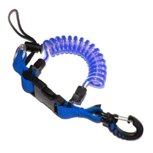 Oceanpro Coiled Lanyard - Blue - Accessories