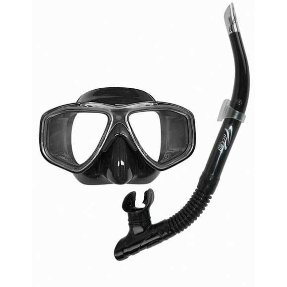 Oceanpro Eclipse Mask Snorkel Set - Black - Mask / Snorkel Sets